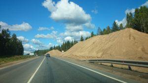 песок для строительства дороги