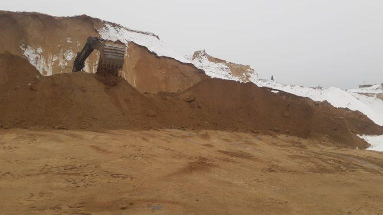 строительный песок разработка в карьере