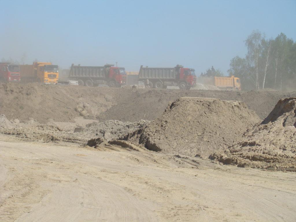 доставка песка автотранспортом