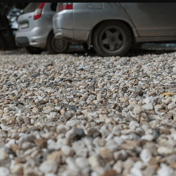парковка из щебня