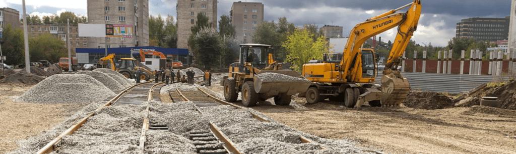 щебень для строительства трамвайных путей