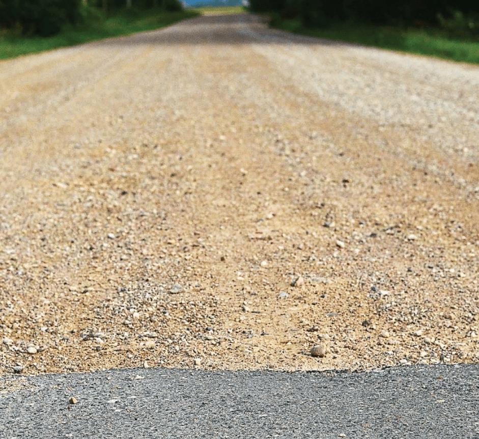 подушка дороги с помощью крупного песка