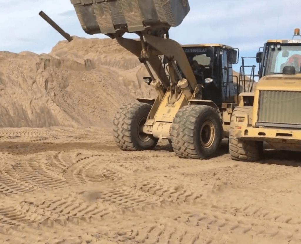 добыча крупного песка